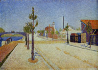 Paul Signac Quay at Clichy