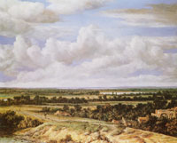 Philips Koninck - Extensive Landscape with a Road by a River