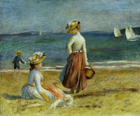 Pierre-August Renoir Figures on the Beach