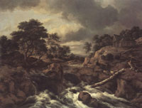 Jacob van Ruisdael Waterfall in Norway