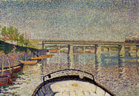 Paul Signac Bridge at Asnières (The Stern of the Tub in the Sun)