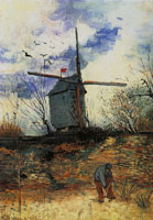 Vincent van Gogh Windmill on Montmartre