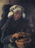 Vincent van Gogh Peasant woman, peeling potatoes
