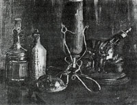 Vincent van Gogh Still life with bottles and a cowrie shell