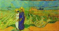 Vincent van Gogh Two Women Crossing the Fields