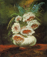 Vincent van Gogh Vase with peonies