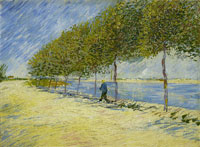 Vincent van Gogh A Walk Along the Banks of the Seine near Asnières