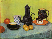 Vincent van Gogh Coffeepot, Earthenware and Fruit