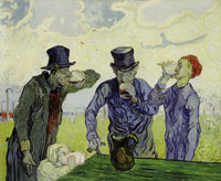 Vincent van Gogh The Drinkers (after Daumier)
