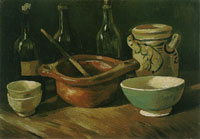 Vincent van Gogh Still life with earthenware and bottles