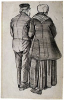 Vincent van Gogh Man and Woman, Arm in Arm