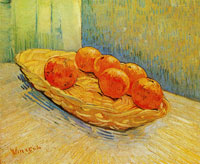 Vincent van Gogh Still Life with Basket and Six Oranges