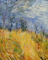 Vincent van Gogh Edge of a Wheat Field with Poppies