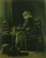 Vincent van Gogh Woman winding yarn