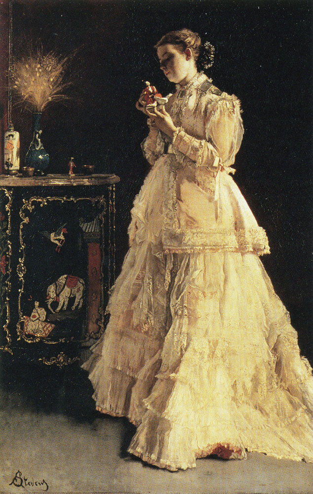 Alfred Stevens - The Lady in Pink
