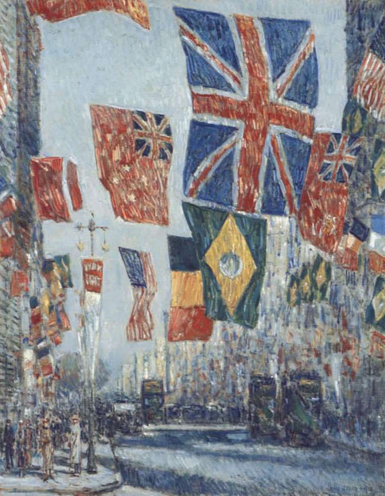 Childe Hassam - Avenue of the Allies, Great Britain, 1918