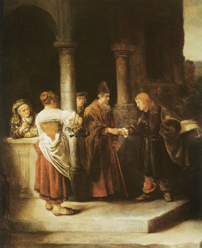 Circle of Rembrandt - The Departure of the Prodigal Son