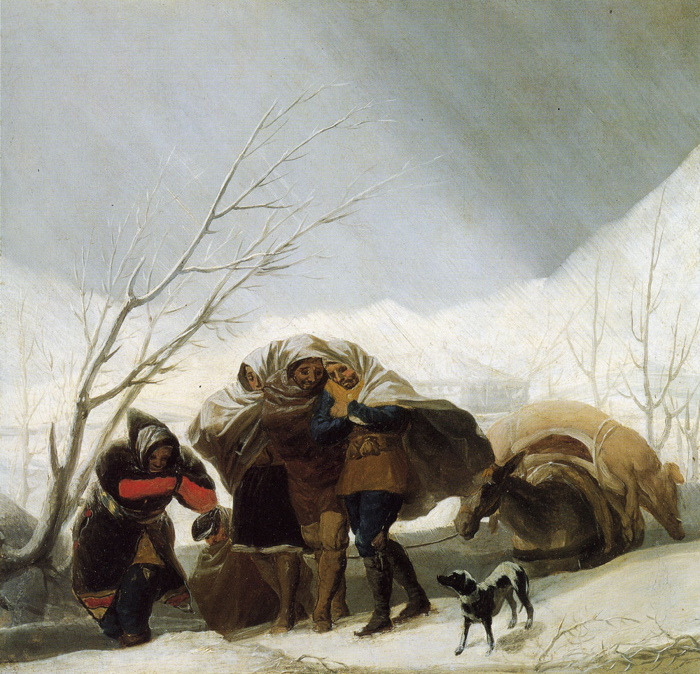 Francisco Goya - Sketch for Winter or The Snowstorm