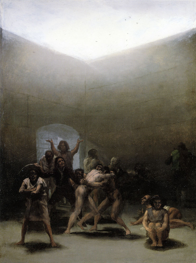 Francisco Goya - Yard with Lunatics