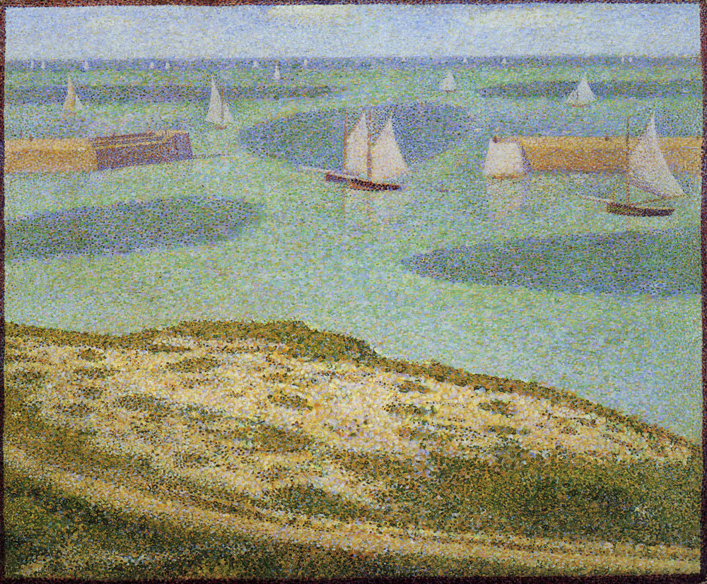 Georges Seurat - Port-en-Bessin. Entrance to the harbour