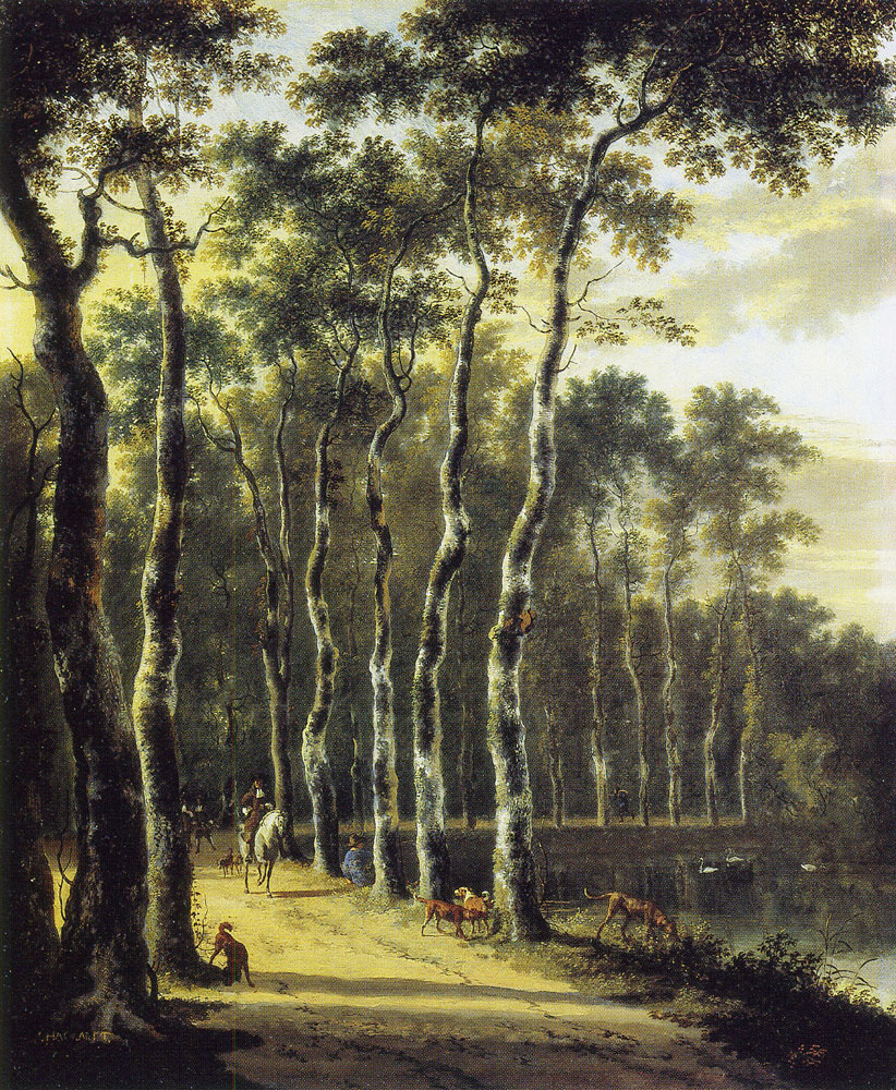 Jan Hackaert - An Avenue in a Wood
