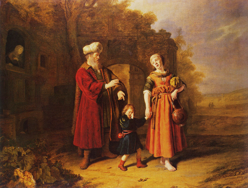 Jan Victors - The dismissal of Hagar