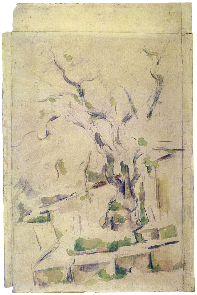 Paul Cézanne - Pistachio tree in the courtyard of the Château Noir
