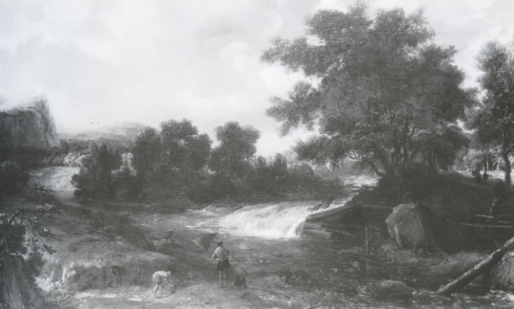 Roelant Roghman - Landscape with Anglers and a Waterfall