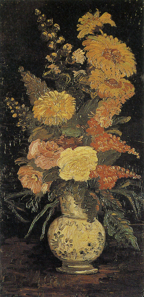 Vincent van Gogh - Vase with asters and other flowers