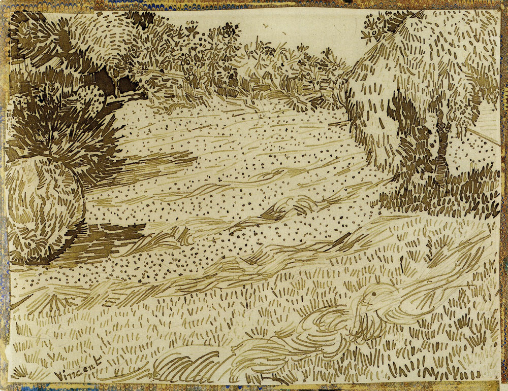 Vincent van Gogh - A Corner of a Garden in the Place Lamartine