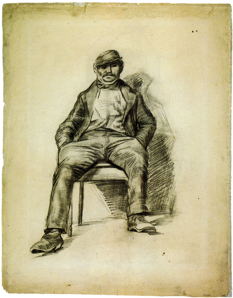 Vincent van Gogh - Man with Cap, Sitting