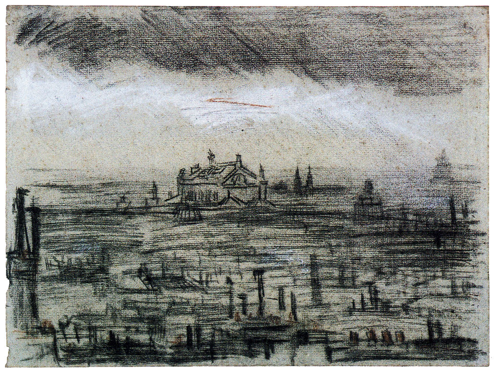Vincent van Gogh - View of Paris with the Opéra