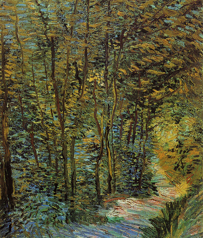 Vincent van Gogh - A path in the woods