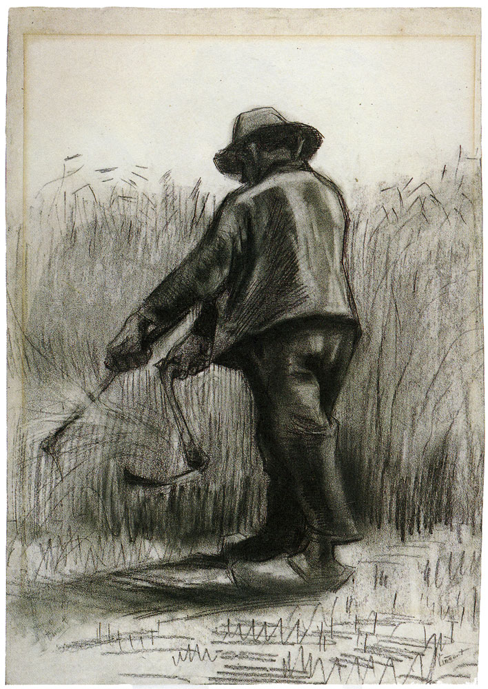 Vincent van Gogh - Peasant with Sickle, Seen from the Back