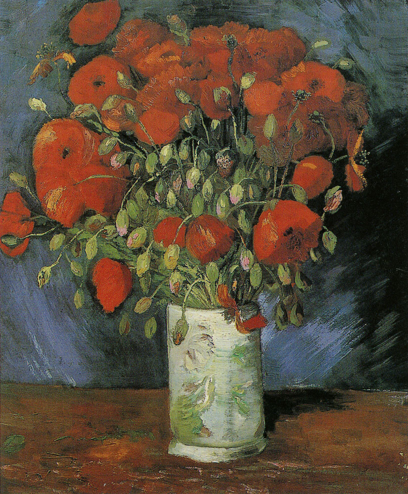 Vincent van Gogh - Vase with poppies