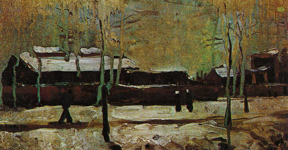 Vincent van Gogh - Buildings belonging to the old station at Eindhoven