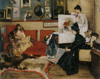 Alfred Stevens In the Studio