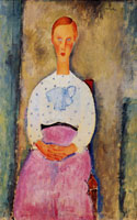 Amedeo Modigliani Girl with a Polka-Dot Blouse