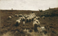 Anton Mauve The return of the flock at Laren