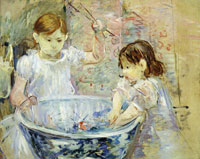 Berthe Morisot Children Playing with a Bowl of Water