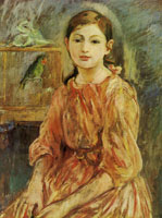 Berthe Morisot The artist's daughter with a parakeet