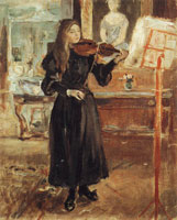 Berthe Morisot Julie Playing the Violin, Study