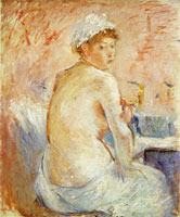 Berthe Morisot Nude Seen from the Back