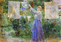 Berthe Morisot Peasant Girl Hanging Clothes to Dry