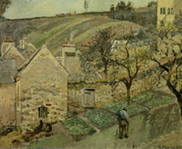 Camille Pissarro Hill at L' Hermitage, Pontoise
