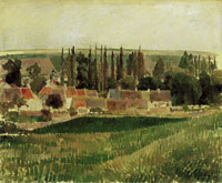 Camille Pissarro Landscape at Osny