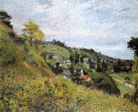 Camille Pissarro Path and hills, Pontoise