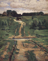 Childe Hassam A Back Road