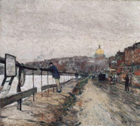 Childe Hassam Charles River and Beacon Hill