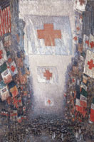 Childe Hassam Red Cross Drive, May 1918 (Celebration day)